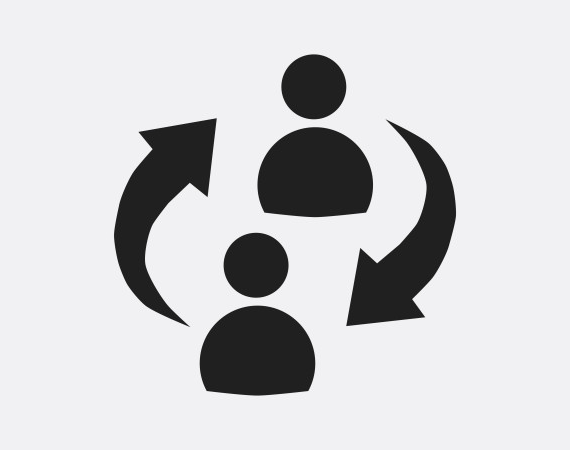 icon showing two people communicating