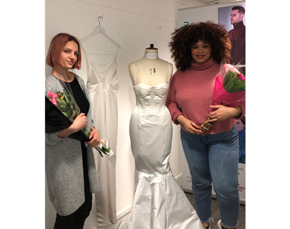 Bridal competition winners Esther and Oksana